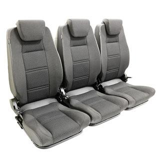 PREMIUM HIGH BACK 2ND ROW SEAT - FULL SEAT SET - BLACK SPAN MONDUS