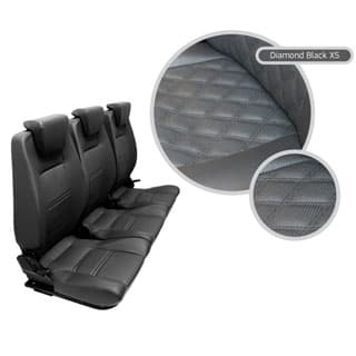 PREMIUM HIGH BACK 2ND ROW SEAT - FULL SEAT SET - DIAMOND BLACK XS
