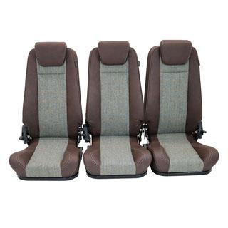 Premium High Back 2nd Row Seat - Full Seat Set - Harris Tweed