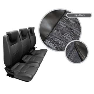 PREMIUM HIGH BACK 2ND ROW SEAT - FULL SEAT SET - LAND ROVER LOGO BLACK