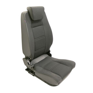 PREMIUM HIGH BACK 2ND ROW SEAT - CENTRE - BLACK SPAN MONDUS