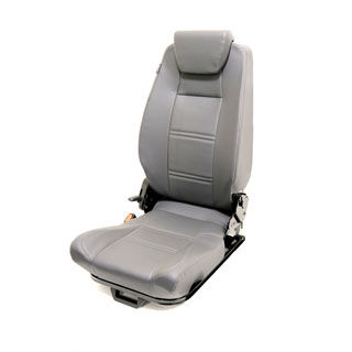 PREMIUM HIGH BACK 2ND ROW SEAT - CENTRE- DARK GREY VINYL