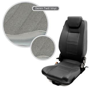 Premium High Back 2nd Row Seat - Centre - Denim Twill
