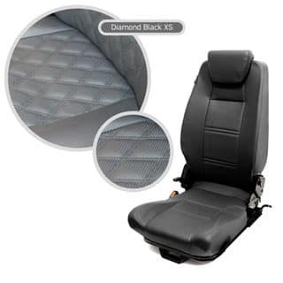 PREMIUM HIGH BACK 2ND ROW SEAT - CENTRE - DIAMOND BLACK XS
