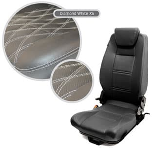 PREMIUM HIGH BACK 2ND ROW SEAT - CENTRE - DIAMOND WHITE XS