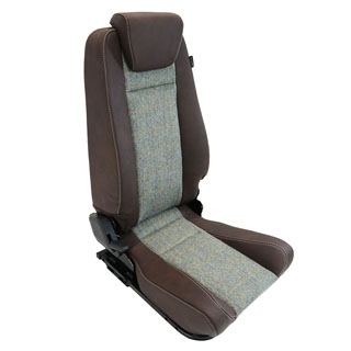 Premium High Back 2nd Row Seat - Centre - Harris Tweed