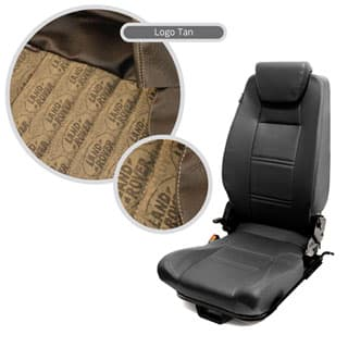 Premium High Back 2nd Row Seat - Centre - Land Rover Logo Brown