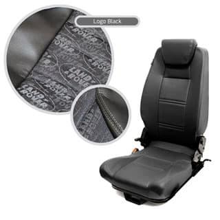 Premium High Back 2nd Row Seat - Centre - Land Rover Logo Black