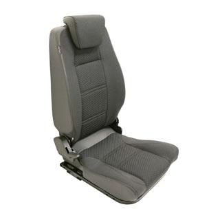 Premium High Back 2nd Row Seat - Left Hand - Black Span Mondus