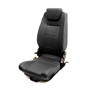 PREMIUM HIGH BACK 2ND ROW SEAT - LEFT HAND - BLACK VINYL