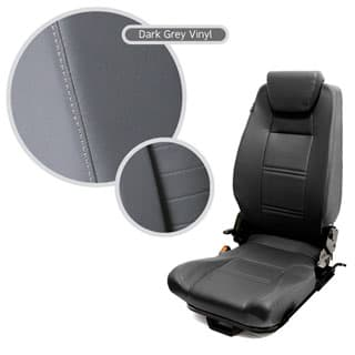 Premium High Back 2nd Row Seat - Left Hand - Dark Grey Vinyl