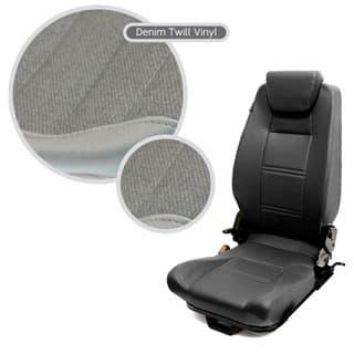 PREMIUM HIGH BACK 2ND ROW SEAT - LEFT HAND - DENIM TWILL