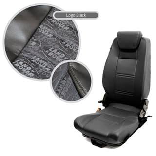 Premium High Back 2nd Row Seat - Left Hand - Land Rover Logo Black