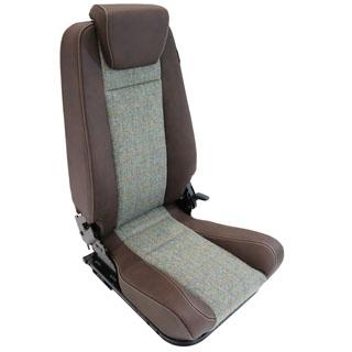 Premium High Back 2nd Row Seat - Right Hand - Harris Tweed