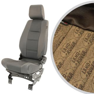 PREMIUM HIGH BACK 2ND ROW SEAT - RIGHT HAND - LAND ROVER LOGO BROWN