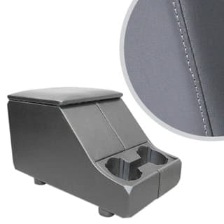 Exmoor Non-Locking Cubby Box With Twin Cup Holder For Defender & Series - Dark Grey Vinyl