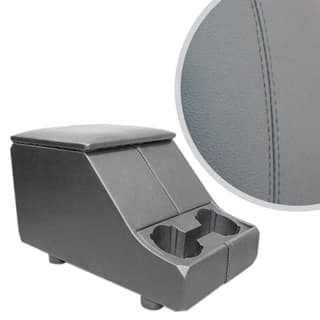 EXMOOR NON-LOCKING CUBBY BOX WITH TWIN CUP HOLDER FOR DEFENDER & SERIES - GREY LEATHER