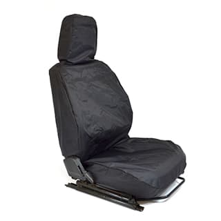 Nylon Waterproof Seat Cover Single Front Outer Seat Defender Black