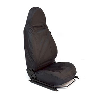 NYLON WATERPROOF SEAT COVERS MODULAR SEATS PAIR DEFENDER BLACK