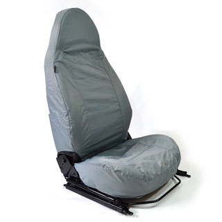 NYLON WATERPROOF SEAT COVERS MODULAR SEATS PAIR DEFENDER GREY
