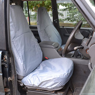 Seat Cover Set Front Pair Discovery I Grey w/Rear Pocket