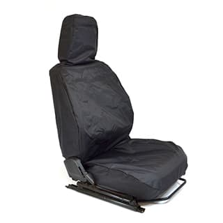 NYLON WATERPROOF SEAT COVERS FULL FRONT SET DEFENDER BLACK