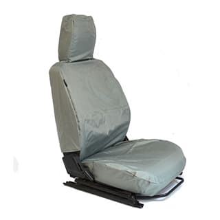 NYLON WATERPROOF SEAT COVERS FULL FRONT SET DEFENDER GREY