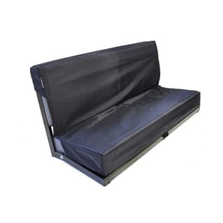 Nylon Waterproof Seat Cover Rear 2-Man Bench Seat Series-Defender Black