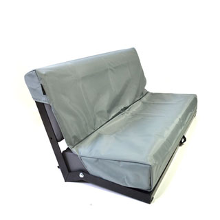 Nylon Waterproof Seat Cover Rear 2-Man Bench Seat Series-Defender Grey