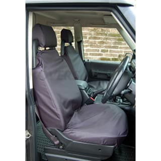 Nylon Waterproof Seat Covers Front Pair Discovery-Ii Black