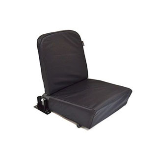 NYLON WATERPROOF SEAT COVER REAR JUMP SEAT DEFENDER BLACK
