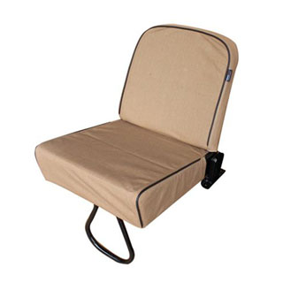 CANVAS SEAT COVER TIP-UP REAR JUMP SEAT DEFENDER SAND