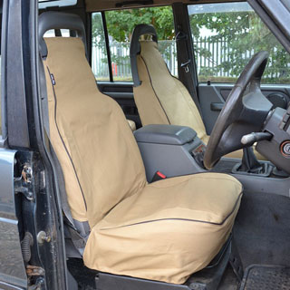 CANVAS SEAT COVERS FRONT OUTER PAIR DISCOVERY-I SAND