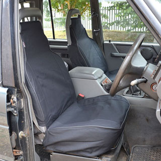 CANVAS SEAT COVERS FRONT OUTER PAIR DISCOVERY-I BLACK