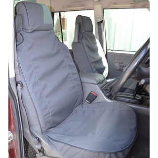 CANVAS SEAT COVERS FRONT OUTER PAIR DISCOVERY-II BLACK