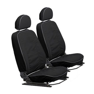 Canvas Seat Covers Front Pair For Defender 2007-Onward - Black