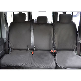 CANVAS SEAT COVER 60/40 BENCH SEAT DEFENDER 2007-ONWARD - BLACK