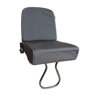 Canvas Seat Cover Tip-Up Rear Jump Seat Defender Black