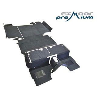 "110"" County Premium Carpet Full Vehicle Set Puma TDCi - Ebony (Cut Away Rear Wheel Arches)"