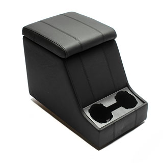 Premium Xl Cubby Box in Black Leather With Black Stitching