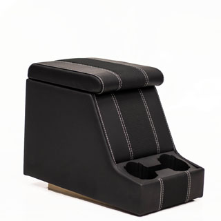 Premium Xl Cubby Box in Black Xs Black Rack Half Leather