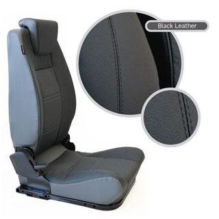 Lock & Fold Rear Seat (R/H) - Black Leather