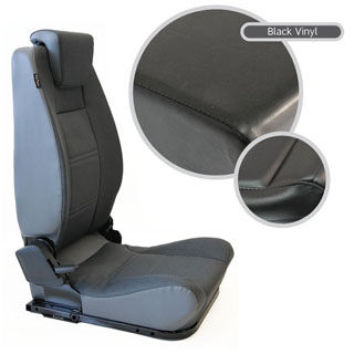 LOCK & FOLD REAR SEAT (L/H) - BLACK VINYL