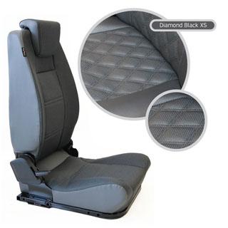 LOCK & FOLD REAR SEAT (L/H) - DIAMOND BLACK XS