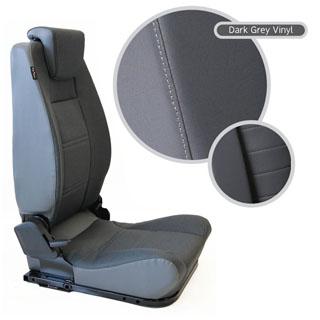 LOCK & FOLD REAR SEAT (L/H) - DARK GEY VINYL