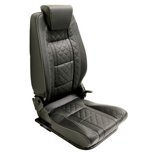 LOCK & FOLD REAR SEAT (R/H) - DIAMOND XS BLACK LEATHER