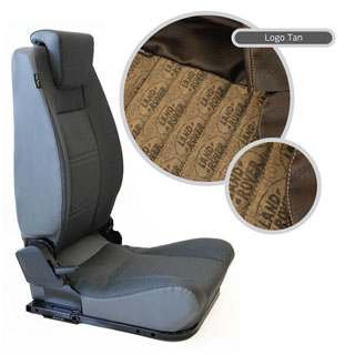 Lock & Fold Rear Seat (L/H) - Logo Brown