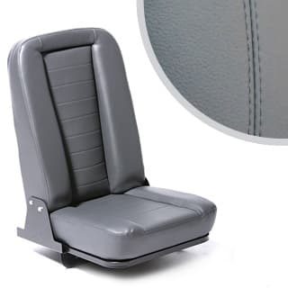 Inward Fold Up Grey Leather