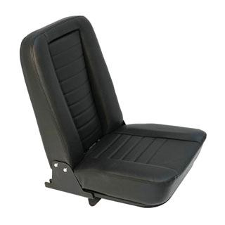 Inward Fold Up Seat - Black Leather White Stitch