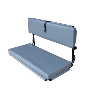 2 Man Wolf Bench  Grey Vinyl